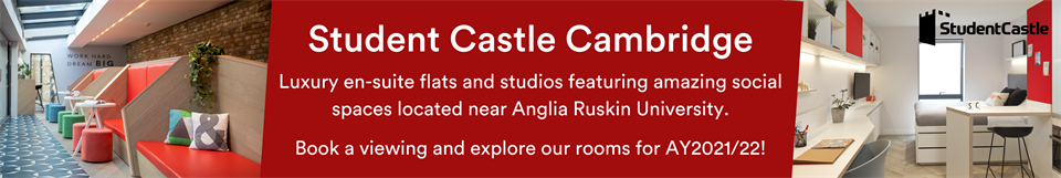 Student Castle Cambridge, luxury en-suite flats and studios located near to Anglia Ruskin university